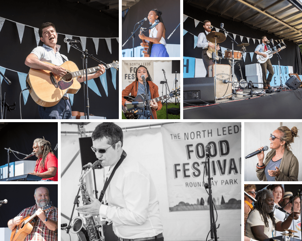 Musicians at Harrogate Food Festival